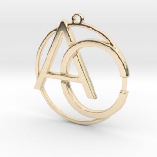 """""""A&C initiales et anneau"""" imprimé en 3D"""