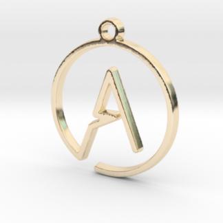 """""""A initiale en tracé continu"""" imprimé en 3D"""
