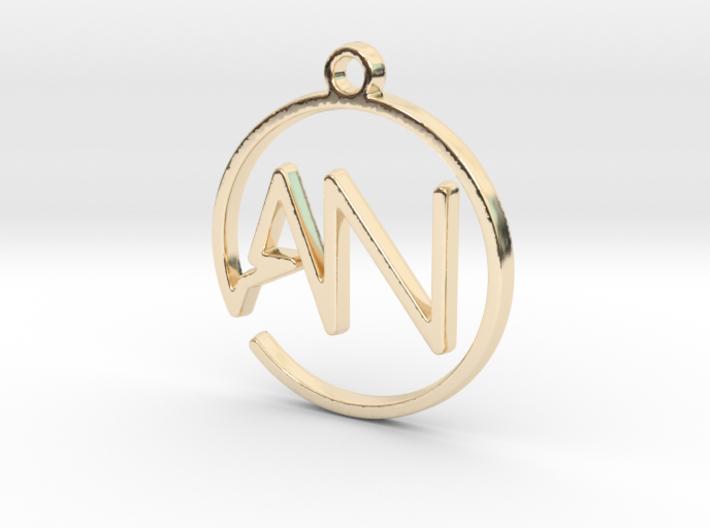 """""""A&N initiales en tracé continu"""" imprimé en 3D"""