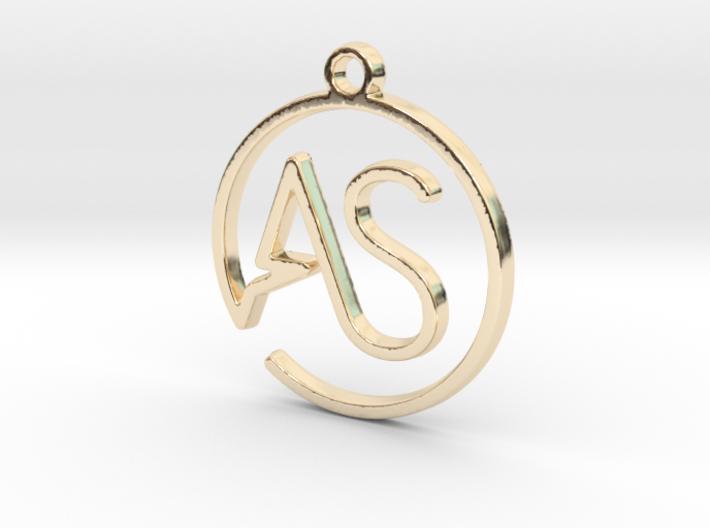 """A&S initiales en tracé continu"" imprimé en 3D"