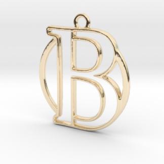 B initiale & cercle, monogramme, entrelacés en 3D (Copie)