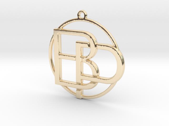 """""""B&P initiales et anneau"""" imprimés en 3D"""
