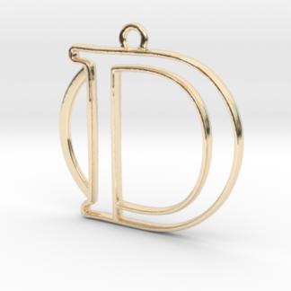 """""""D initiale & anneau"""" imprimés en 3D"""