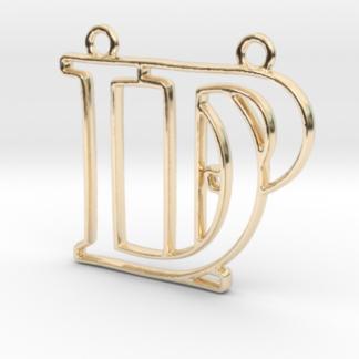 D&P initiales, monogramme, entrelacés en 3D