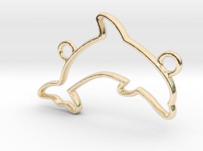 Dauphin en contour imprimé en 3D