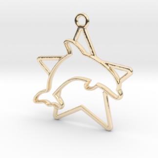 Dauphin et étoile en contour