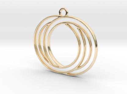 Pendentif de deux cercles en contour