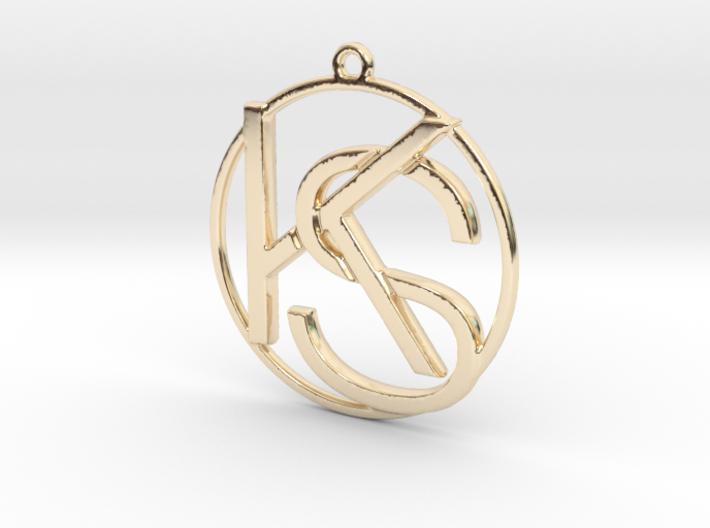 """""""K&S initiales et anneau"""" imprimés en 3D"""