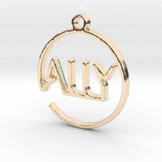 """""""Ally"""" prénom 3D en tracé continu"""