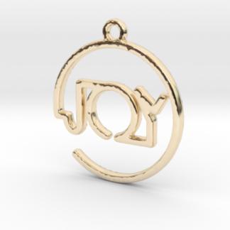 """Joy"" prénom 3D en tracé continu"
