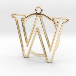 """""""W initiale en contour et anneau"""" imprimés en 3D"""