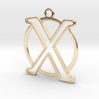 """""""X initiale en contour et anneau"""" imprimés en 3D"""