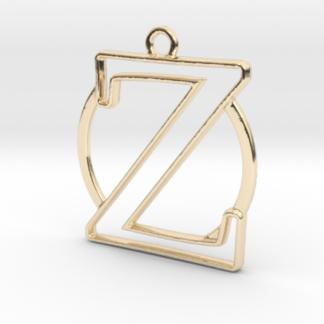 """""""Z initiale en contour et anneau"""" imprimés en 3D"""