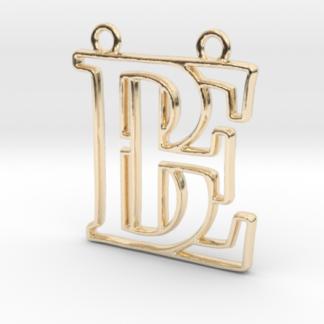 B&E initiales en contour imprimées en 3D