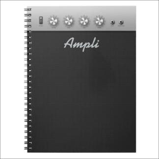 """Carnet 80 pages lignées """"ampli de guitare"""""""