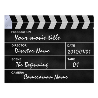 """Carte postale """"clap cinéma"""" à personnaliser"""