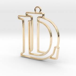 """""""D&L initiales en contour"""" imprimées en 3D"""
