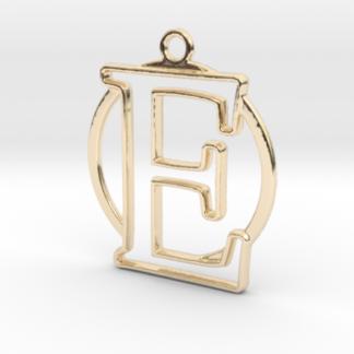 """""""E initiale & anneau"""" imprimés en 3D"""