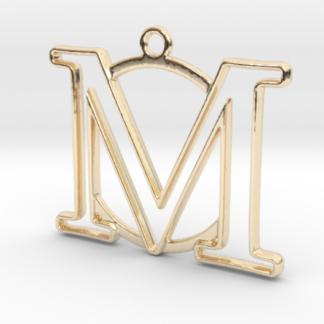 """""""M initiale en contour et anneau"""" imprimés en 3D"""