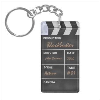 """Porte-clés """"clap cinéma"""" à personnaliser"""