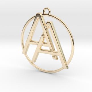 A&A initiales et anneau imprimés en 3d