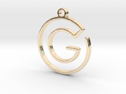 G initiale en tracé continu imprimé en 3d