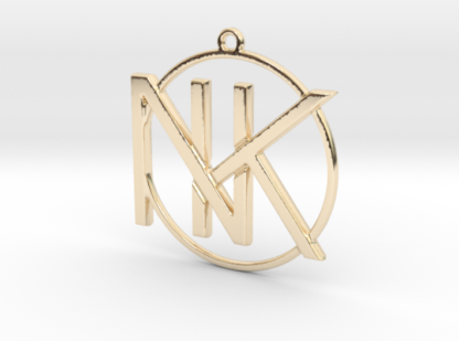K&N initiales et anneau imprimés en 3D