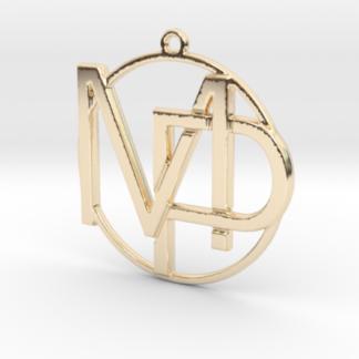 MP initiales et anneau imprimes en 3d