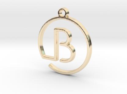 B initiale en tracé continu imprime en 3d
