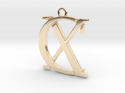 C&X initiales imbriquées imprimées en 3D