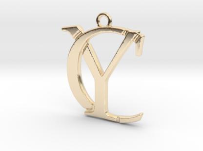 C&Y initiales imbriquées imprimées en 3D