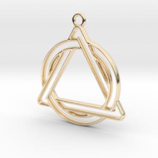 triangle et cercle en contour