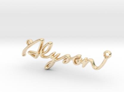 alyson prenom 3d en lettres script
